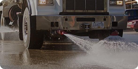 water wetdown truck