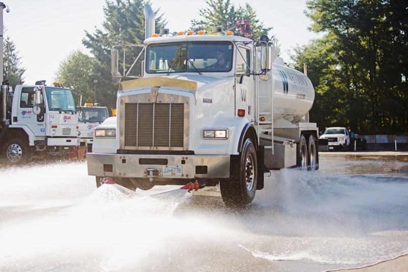 Atlas Power Sweeping truck