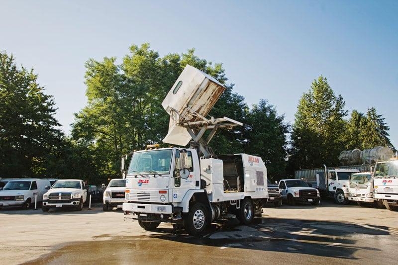 power sweeper truck