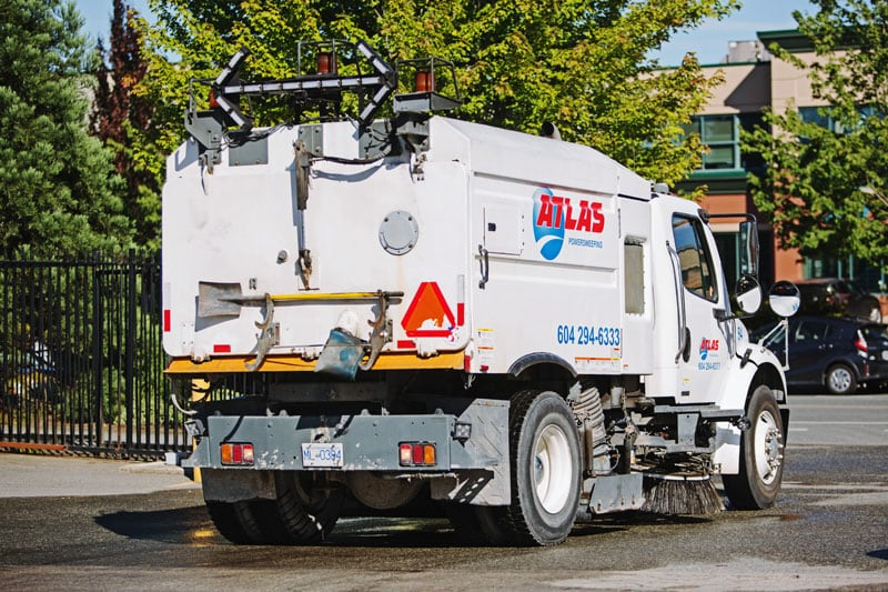 street cleaning truck