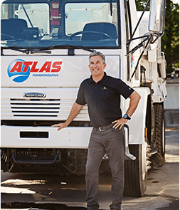 Atlas Power Sweeping truck