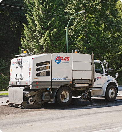power sweeping services for municipal paving projects