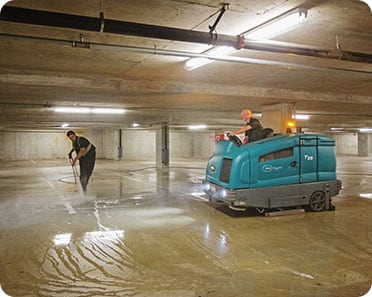 parkade cleaning and power sweeping services